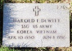 Harold E Dewitt