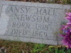 "Angeline ""Ansy"" <I>Hall</I> Newsom"