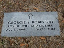 Georgie <I>Stone</I> Robinson