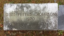 Williametta Dixie <I>Pettus</I> Thompson