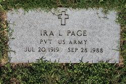 Ira L Page
