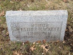 Esther Hackett <I>Smith</I> Lindholm