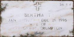Bertha T Crumpton