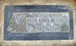 Ruth Anna <I>Fletcher</I> McCarty