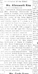 Frederica <I>Schoppe</I> Allensworth
