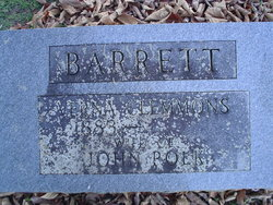 Verna Lanell <I>Clemmons</I> Barrett