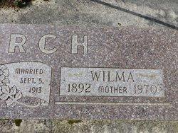 """Wilhelmina J. """"Wilma"""" <I>Trask</I> Church"""