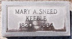 Mary Ann <I>Sneed</I> Keeble
