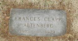 Frances Harriet <I>Clapp</I> Altenberg