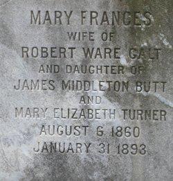 Mary Frances <I>Butt</I> Galt