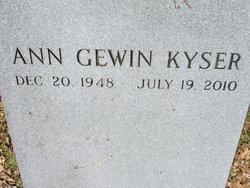 Ann Alison <I>Gewin</I> Kyser