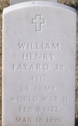 PFC William Henry Fayard, Jr