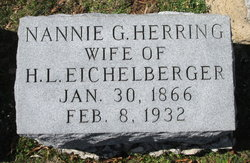Nannie G <I>Herring</I> Eichelberger