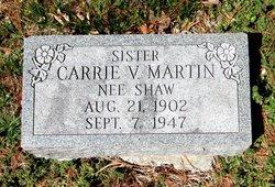 Carrie Van <I>Shaw</I> Martin