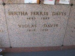 Bertha <I>Ferris</I> Davis