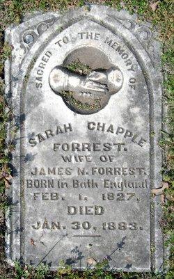 Sarah <I>Chapple</I> Forrest