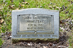Carrie Lee <I>Lynum</I> Armstead