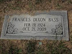 Frances <I>Dixon</I> Bass