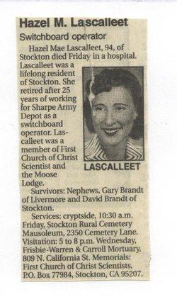 Hazel Mae <I>Lloyd</I> Lescalleet