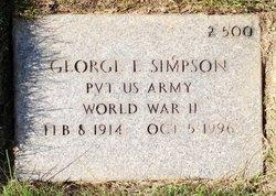 George E Simpson