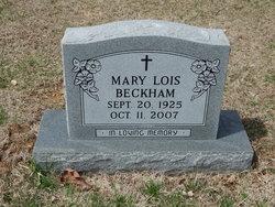 Mary Lois <I>Wood</I> Beckham