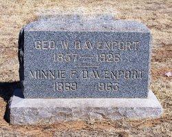 Mrs Minnie Frances <I>Whittington</I> Davenport