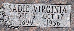 Sadie Virginia <I>Hardin</I> Kelly