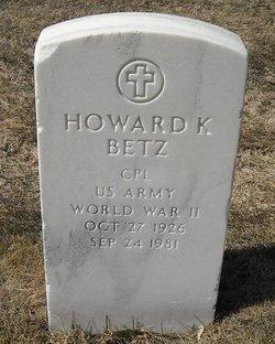 Howard K Betz