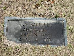 Ada <I>Barnhill</I> Anderson
