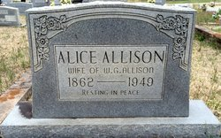 Alice Cornelia <I>Kendrick</I> Allison