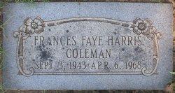 Frances Faye <I>Harris</I> Coleman