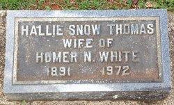 Hallie Snow <I>Thomas</I> White