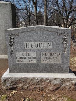 """Caroline """"Carrie"""" <I>Burr</I> Hedden"""