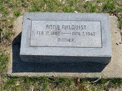Anna <I>Matson</I> Ahlquist