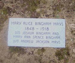 Mary Alice <I>Bingham</I> Mays