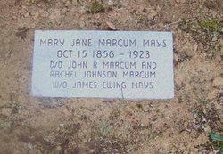 Mary Jane <I>Marcum</I> Mays