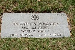 PFC Nelson R Haacke