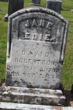 67c92f6feebc Jane Edie Robertson (1792-1834) - Find A Grave Memorial