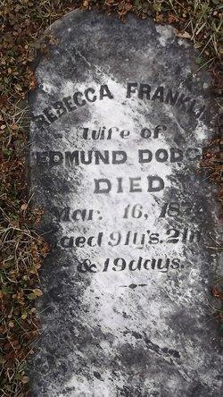 Rebecca <I>Franklin</I> Dodge