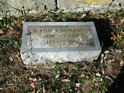 Bertha Edith <I>Edwards</I> Bradford