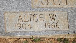 Alice <I>W</I> Settle