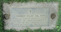"Henry Clay ""Bud"" Brown"