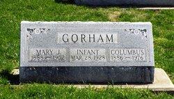 "Christopher Columbus ""Bunk"" Gorham"