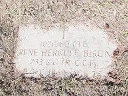 Pte Rene Hercule Biron