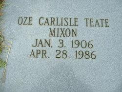 Oze <I>Carlisle</I> Teate Mixon