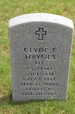 PFC Clyde C Haynes