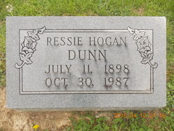 Ressie B. <I>Hogan</I> Dunn