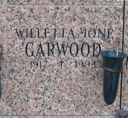 Willetta Ione <I>McGillivray</I> Garwood