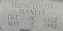 Edith Louise <I>Boyd</I> Bennett