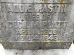 Addie Esther <I>Mastin</I> Platt